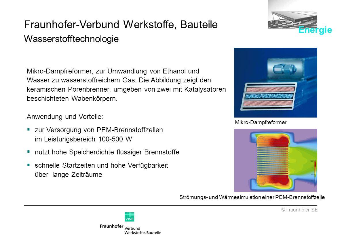 Fraunhofer-Verbund Werkstoffe, Bauteile Wasserstofftechnologie