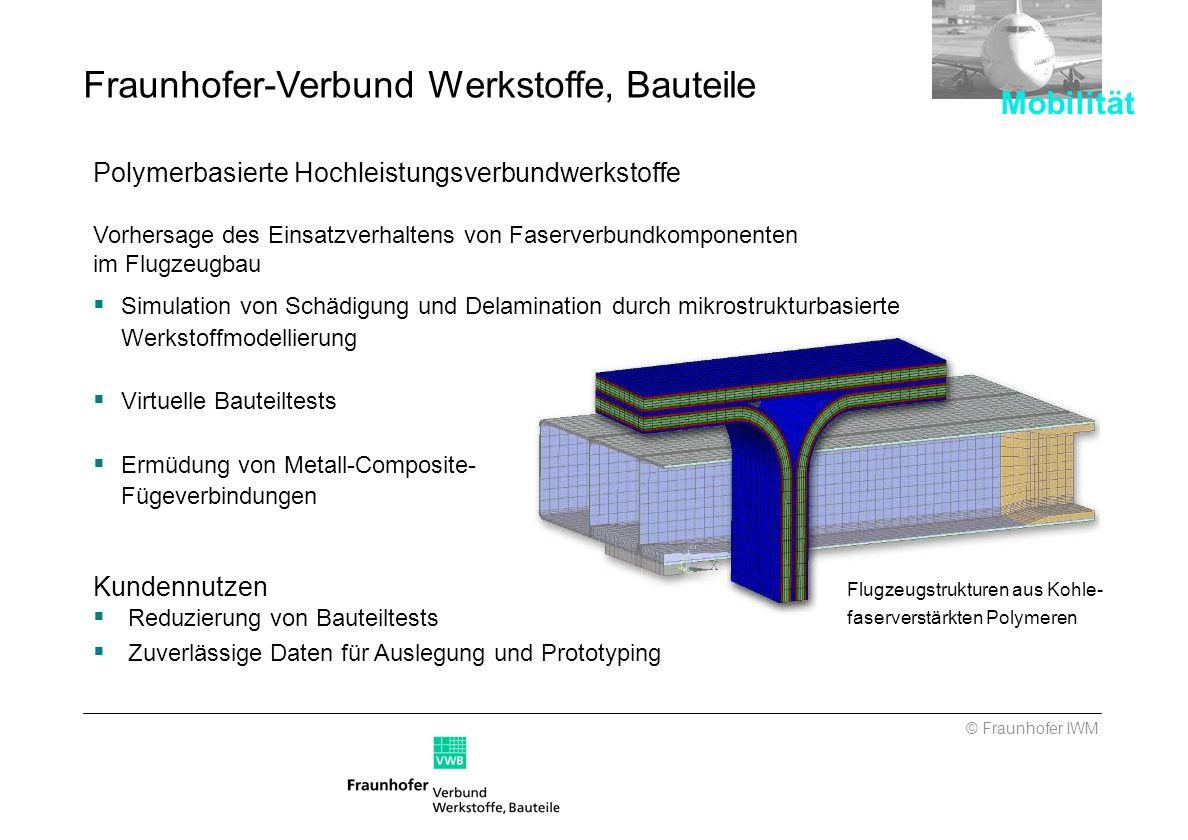 Fraunhofer-Verbund Werkstoffe, Bauteile
