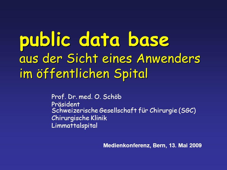 public data base aus der Sicht eines Anwenders im öffentlichen Spital