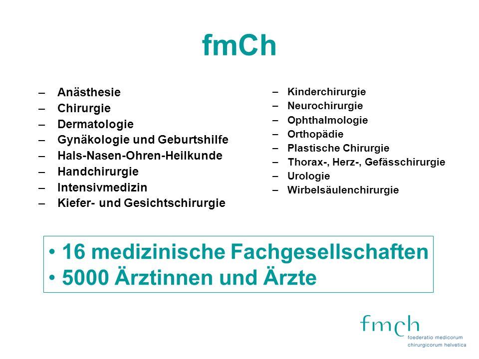 fmCh 16 medizinische Fachgesellschaften 5000 Ärztinnen und Ärzte