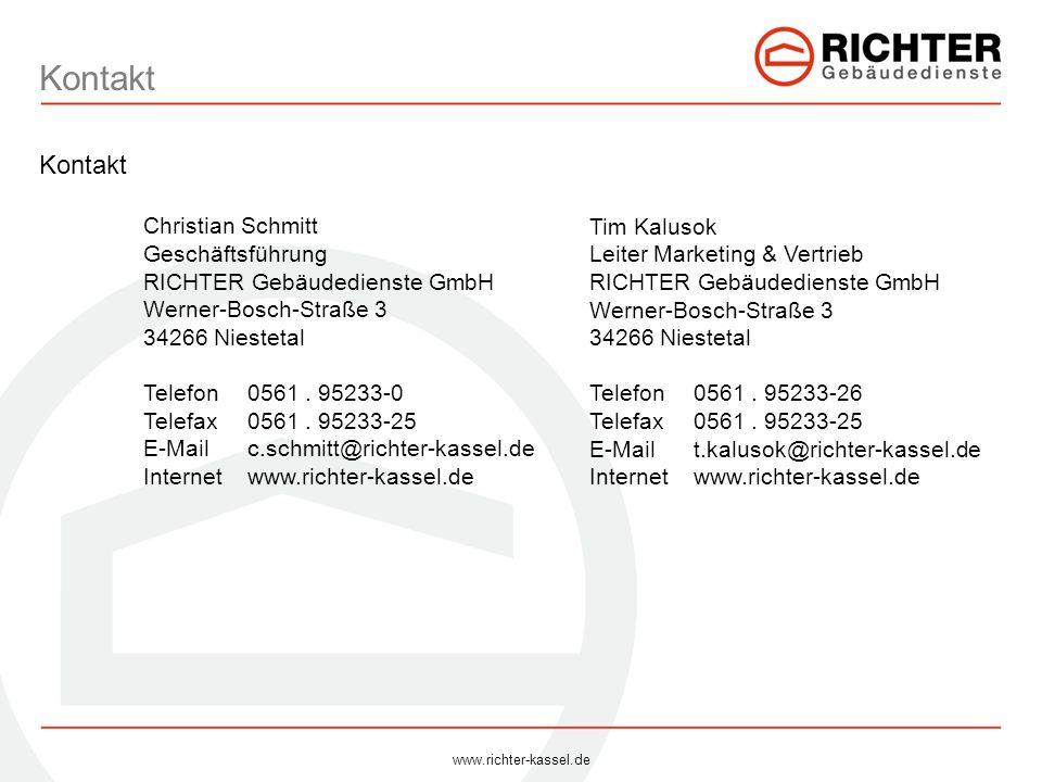 Kontakt Kontakt Christian Schmitt Geschäftsführung