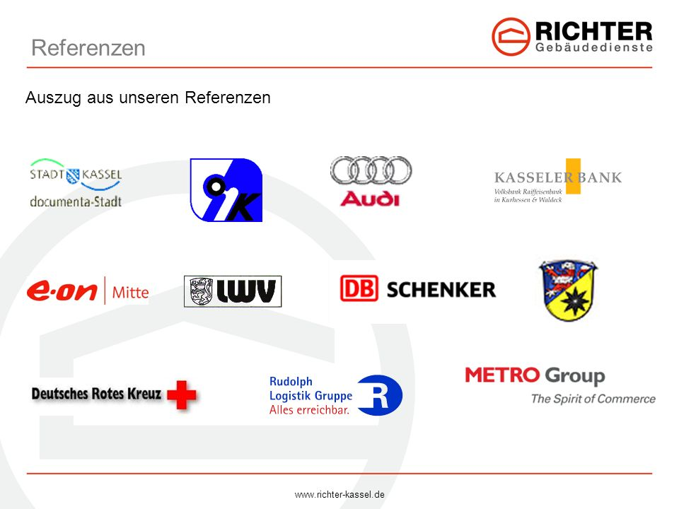 Referenzen Auszug aus unseren Referenzen www.richter-kassel.de