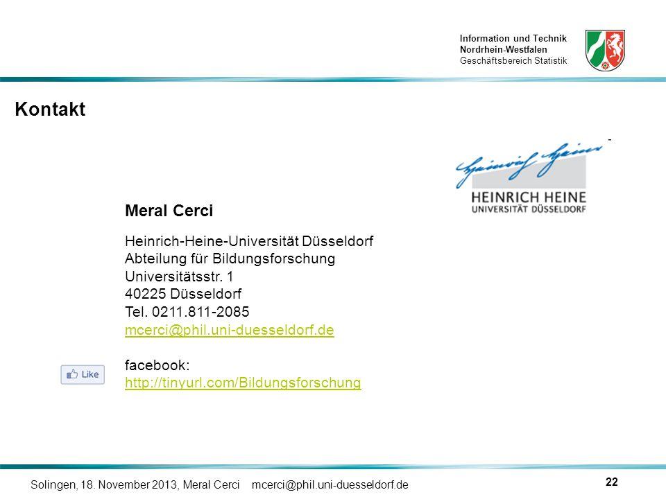 Kontakt Meral Cerci Heinrich-Heine-Universität Düsseldorf