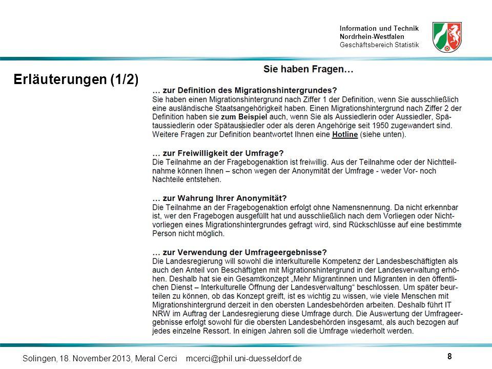 Erläuterungen (1/2) Solingen, 18. November 2013, Meral Cerci mcerci@phil.uni-duesseldorf.de