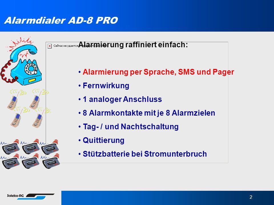 Alarmdialer AD-8 PRO Alarmierung raffiniert einfach:
