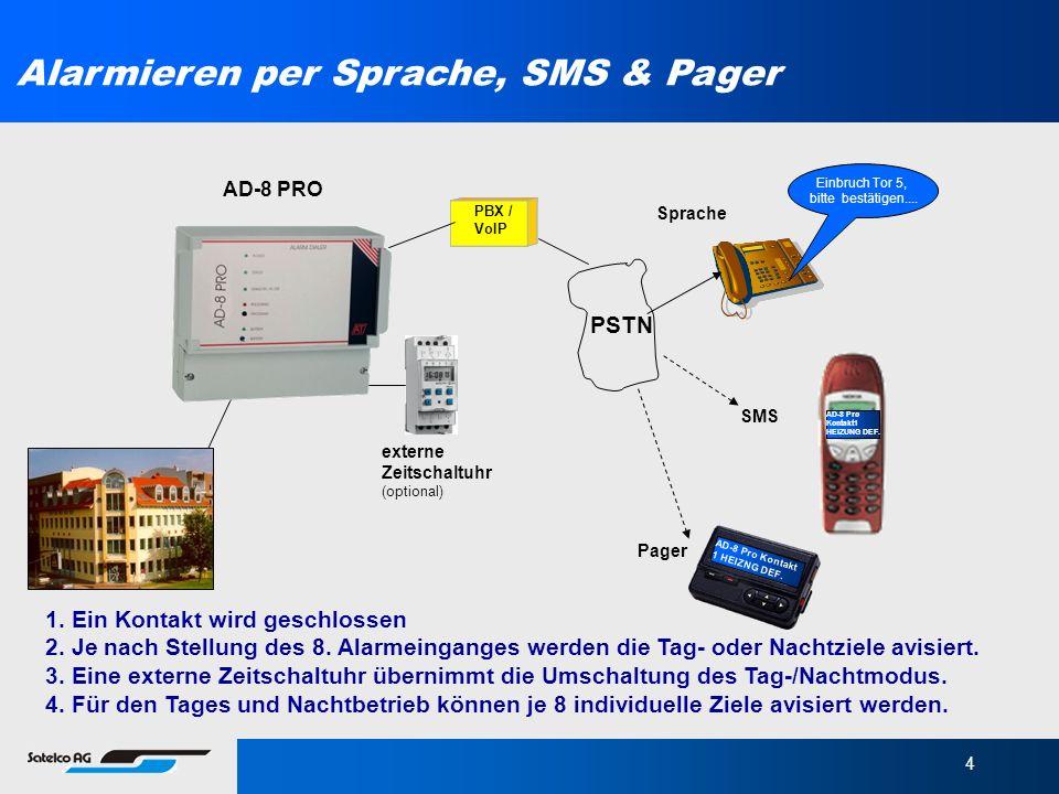 Alarmieren per Sprache, SMS & Pager