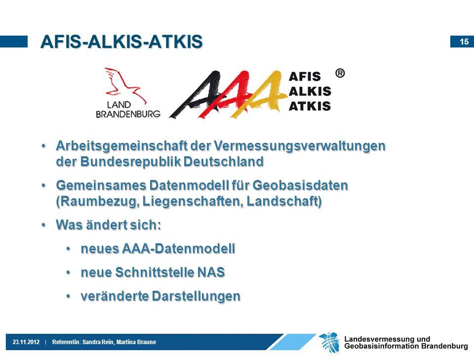 AFIS-ALKIS-ATKIS Arbeitsgemeinschaft der Vermessungsverwaltungen der Bundesrepublik Deutschland.
