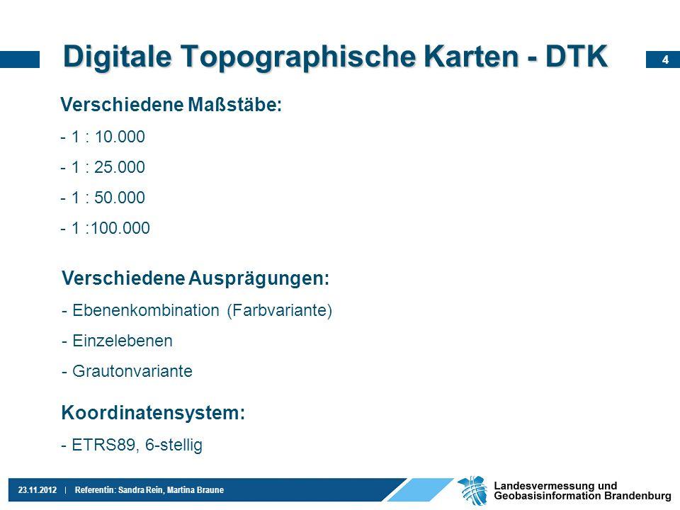 Digitale Topographische Karten - DTK