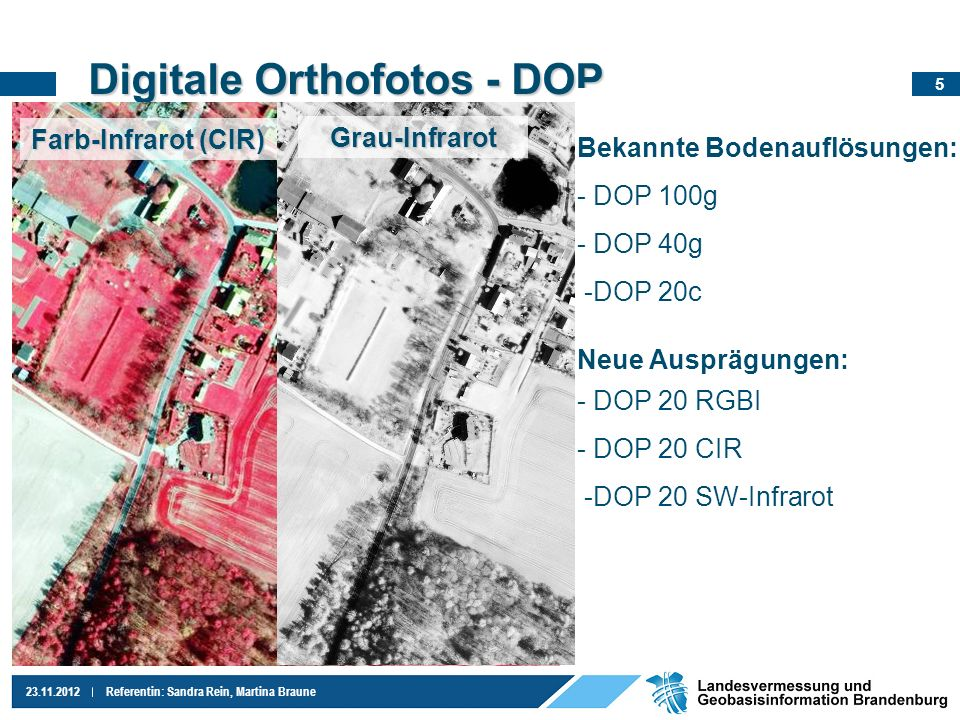 Digitale Orthofotos - DOP