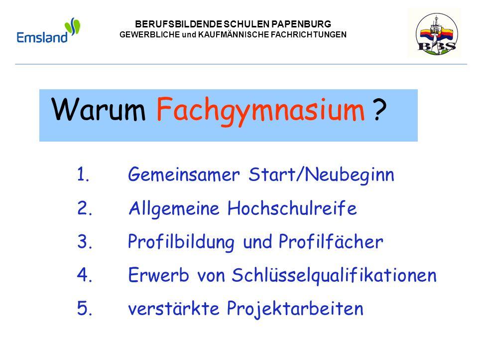 Gemeinsamer Start/Neubeginn Allgemeine Hochschulreife