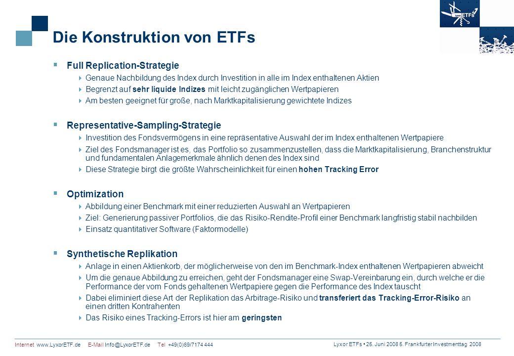 Die Konstruktion von ETFs