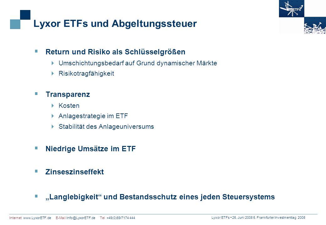Lyxor ETFs und Abgeltungssteuer