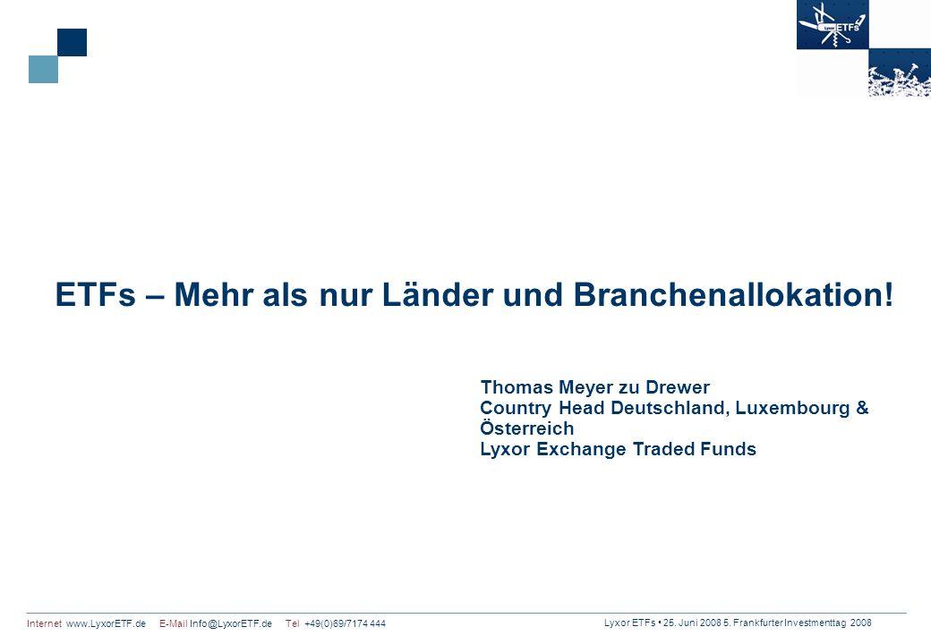 ETFs – Mehr als nur Länder und Branchenallokation!