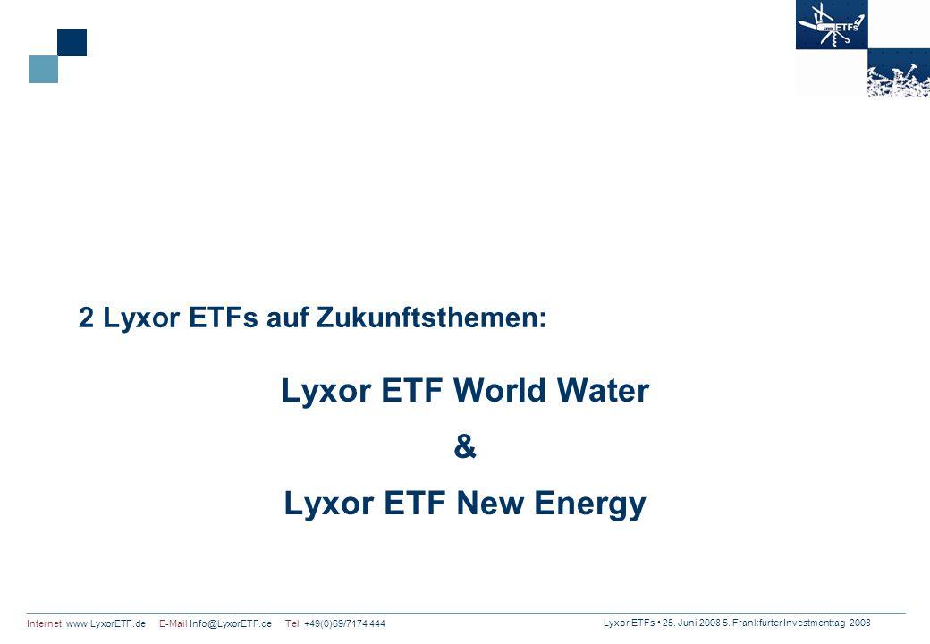 2 Lyxor ETFs auf Zukunftsthemen: