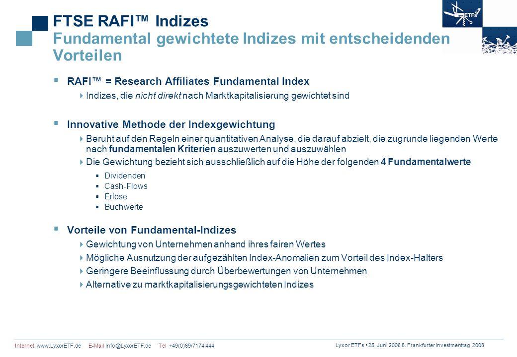 FTSE RAFI™ Indizes Fundamental gewichtete Indizes mit entscheidenden Vorteilen