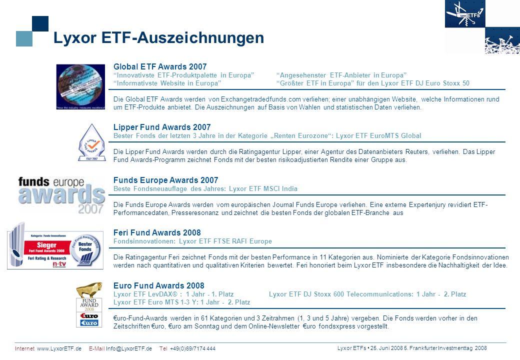 Lyxor ETF-Auszeichnungen