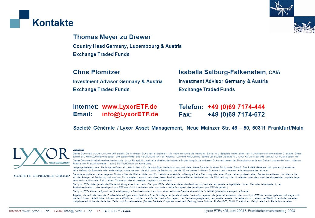Kontakte Thomas Meyer zu Drewer Chris Plomitzer