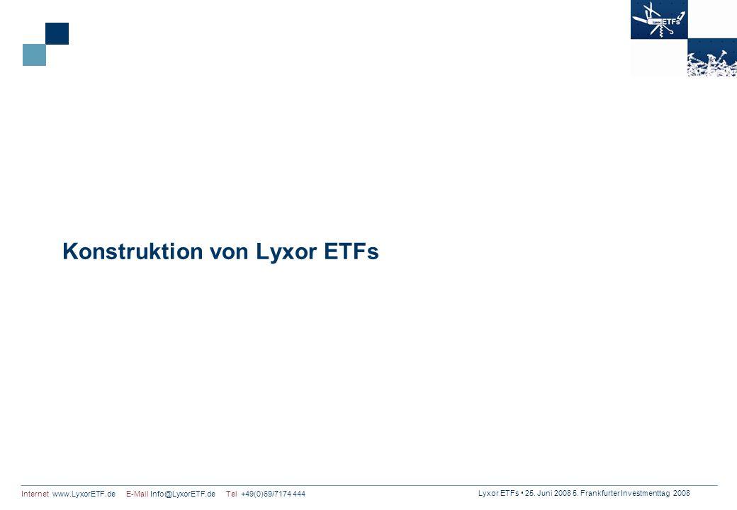 Konstruktion von Lyxor ETFs