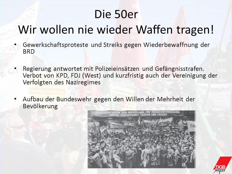 Die 50er Wir wollen nie wieder Waffen tragen!