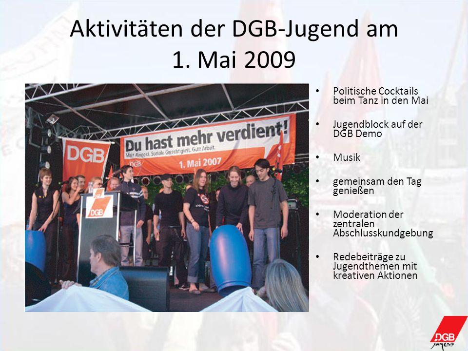 Aktivitäten der DGB-Jugend am 1. Mai 2009