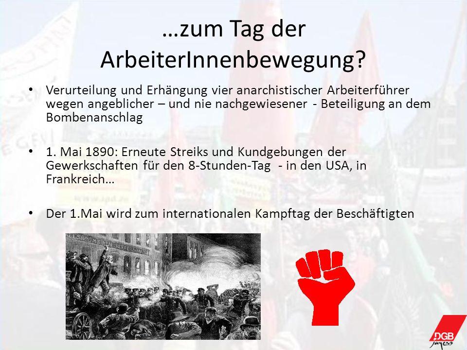 …zum Tag der ArbeiterInnenbewegung