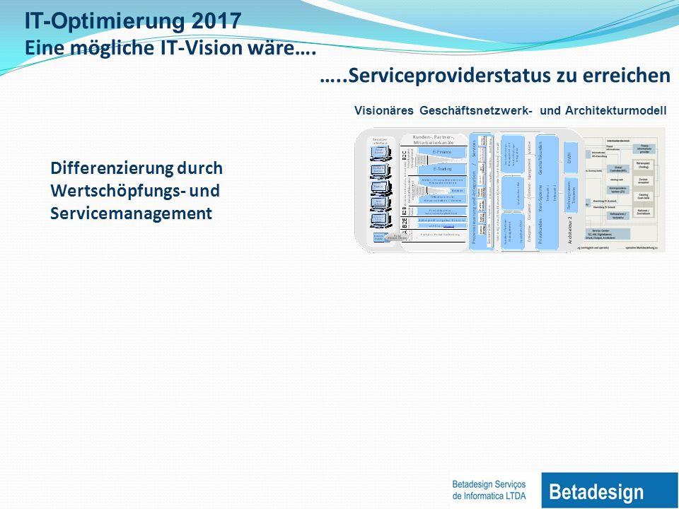 Eine mögliche IT-Vision wäre…. …..Serviceproviderstatus zu erreichen