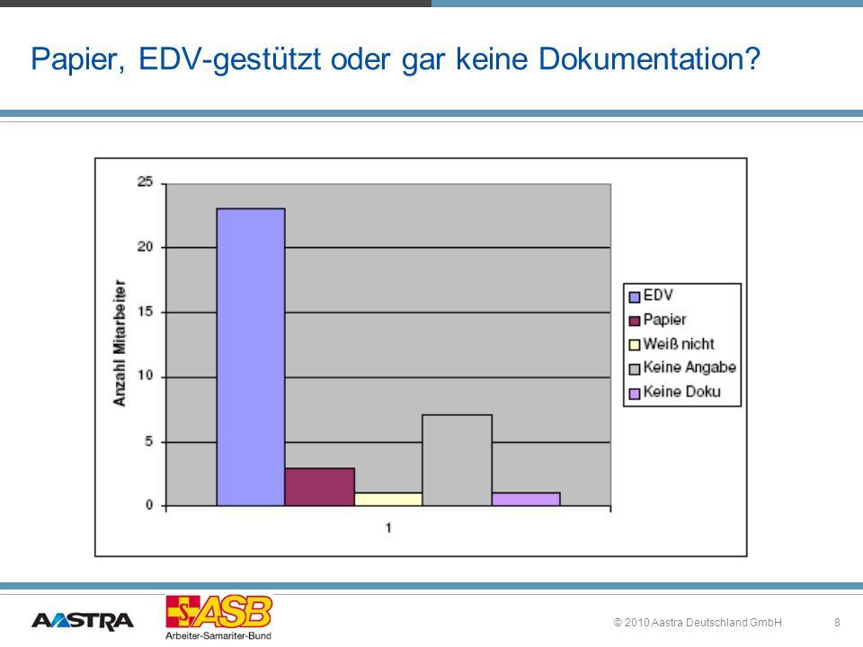 Papier, EDV-gestützt oder gar keine Dokumentation