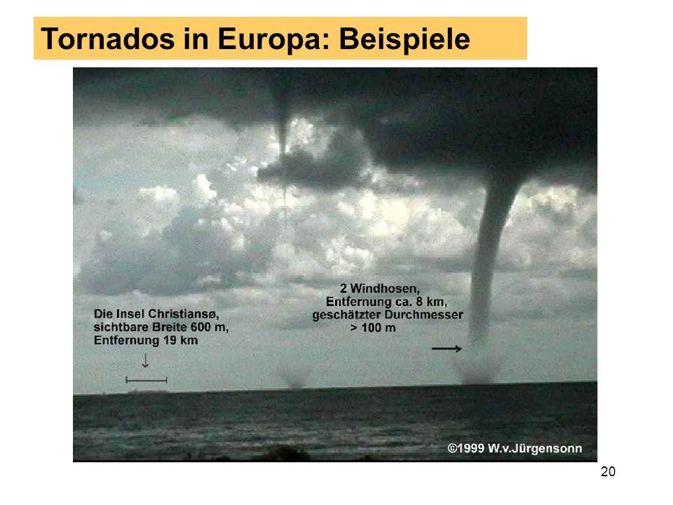 Tornados in Europa: Beispiele