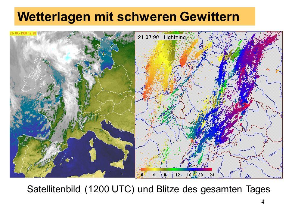 Wetterlagen mit schweren Gewittern