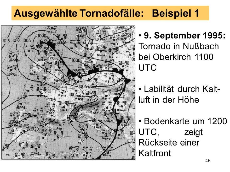 Ausgewählte Tornadofälle: Beispiel 1