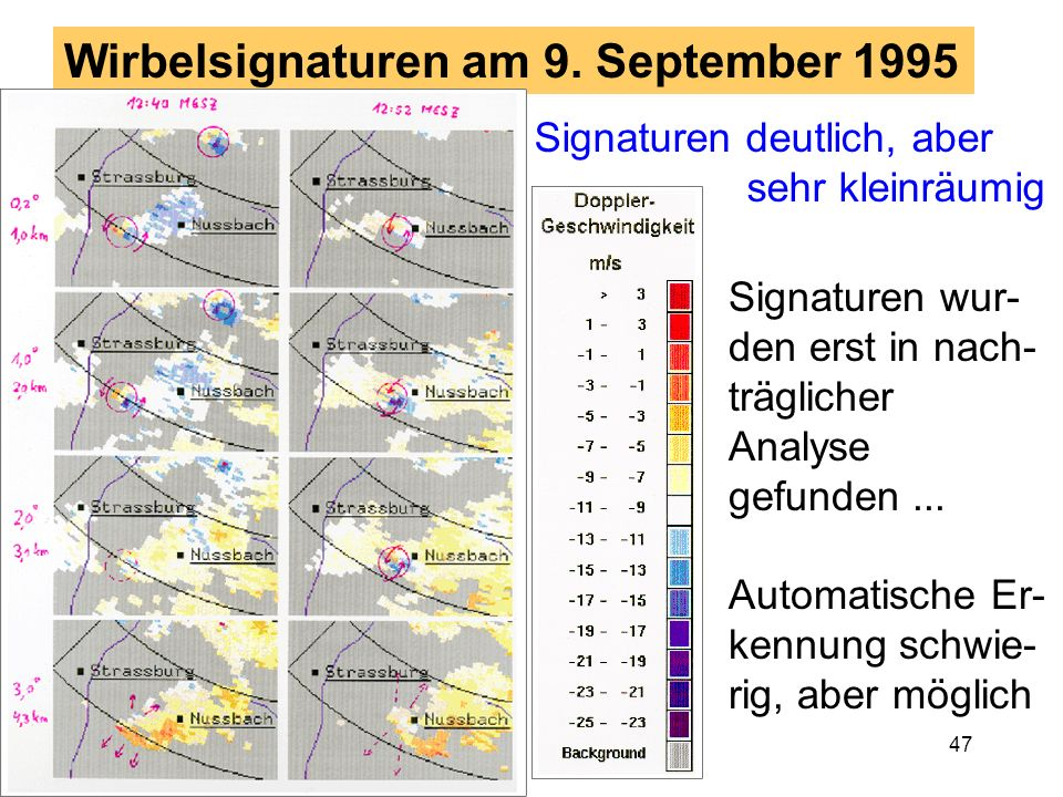 Wirbelsignaturen am 9. September 1995