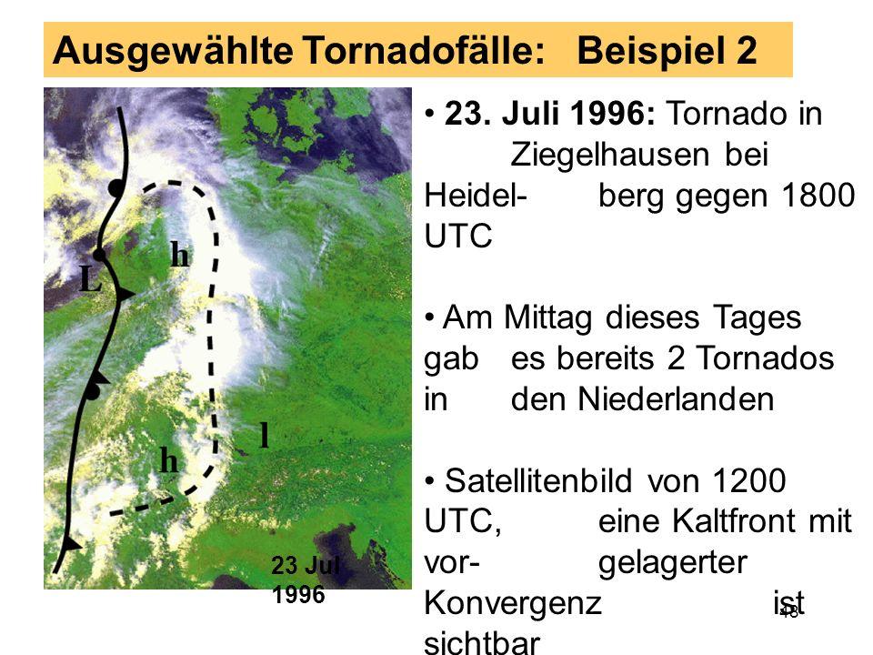 Ausgewählte Tornadofälle: Beispiel 2