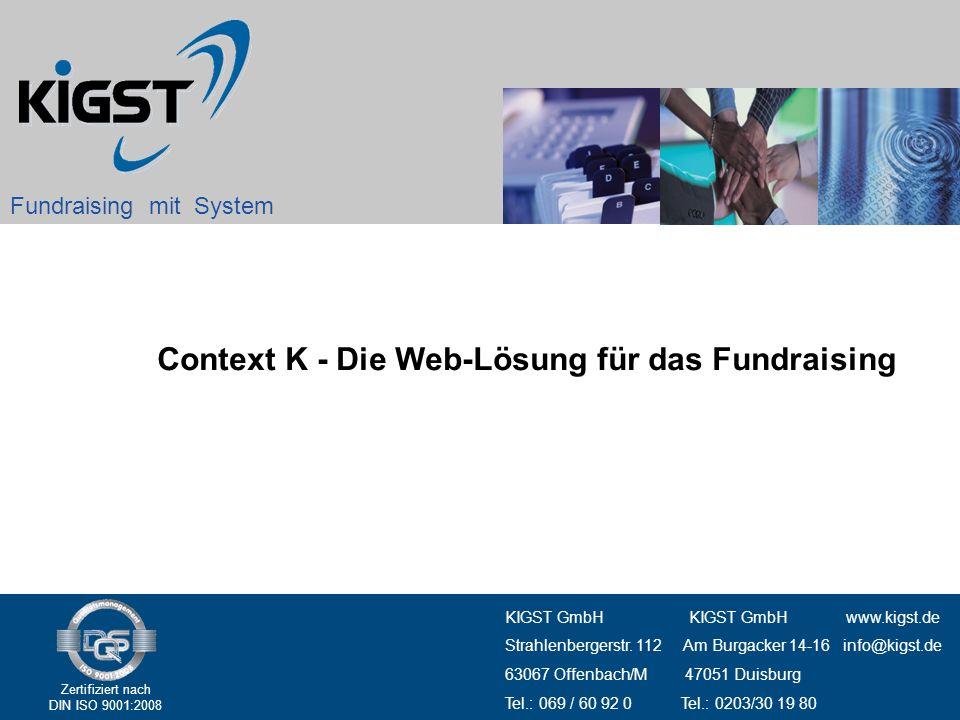 Context K - Die Web-Lösung für das Fundraising