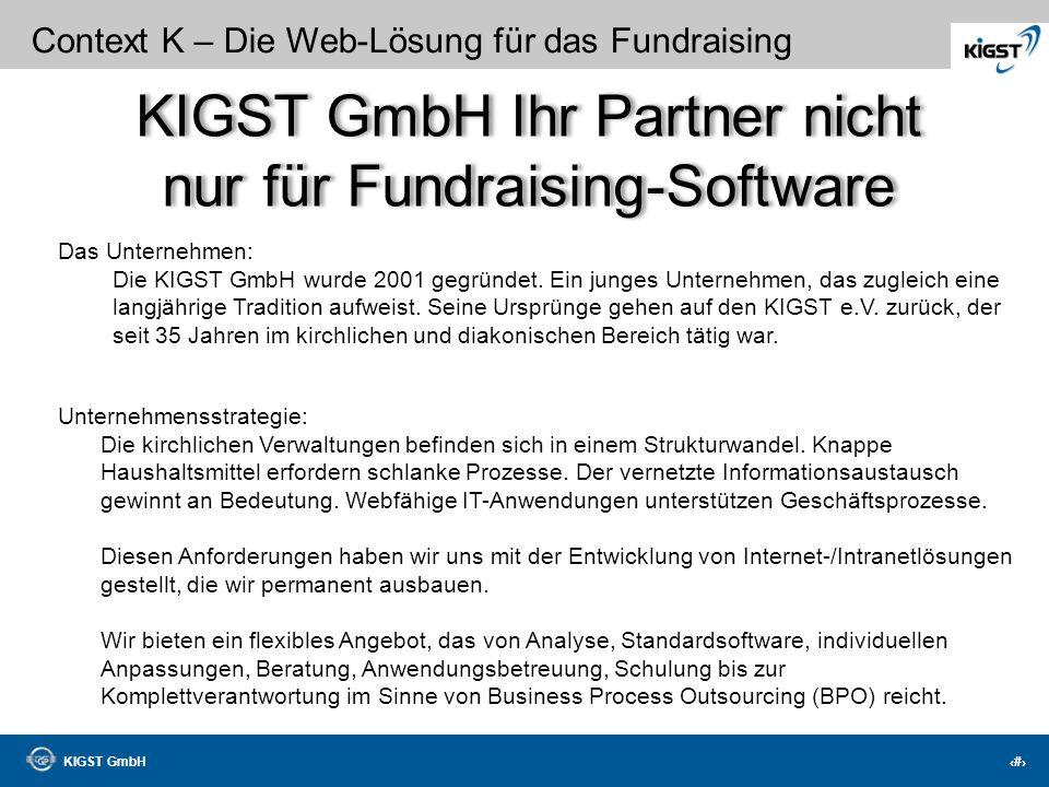 KIGST GmbH Ihr Partner nicht nur für Fundraising-Software