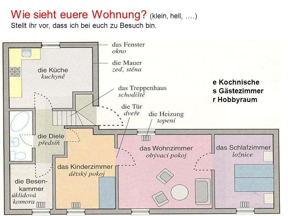 Wie sieht euere Wohnung (klein, hell, ….)