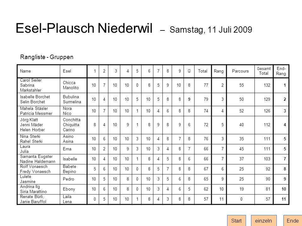 Esel-Plausch Niederwil – Samstag, 11 Juli 2009