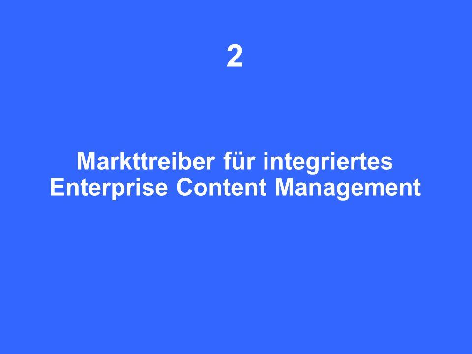 2 Markttreiber für integriertes Enterprise Content Management