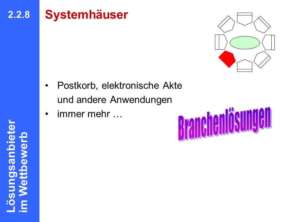 Branchenlösungen Systemhäuser Lösungsanbieter im Wettbewerb 2.2.8