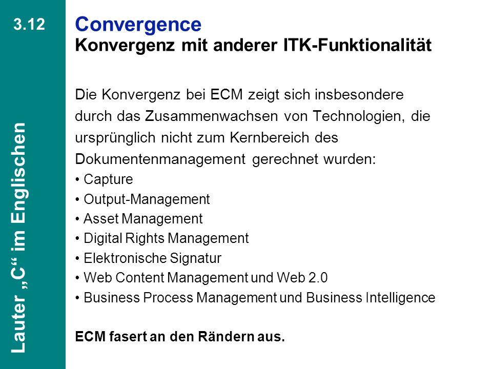 Convergence Konvergenz mit anderer ITK-Funktionalität