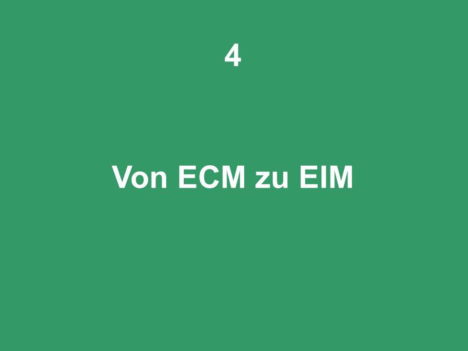 4 Von ECM zu EIM PROJECT CONSULT Unternehmensberatung CIO Dialog