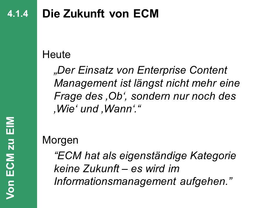 Die Zukunft von ECM Heute