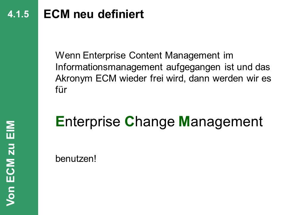 ECM neu definiert Von ECM zu EIM 4.1.5