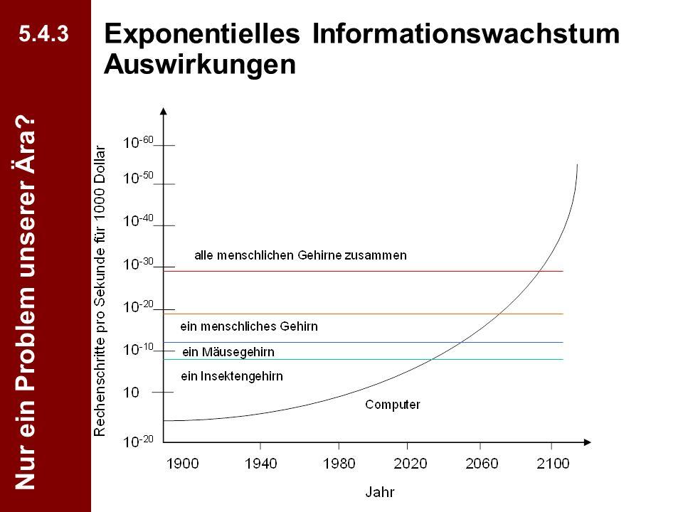 Exponentielles Informationswachstum Auswirkungen