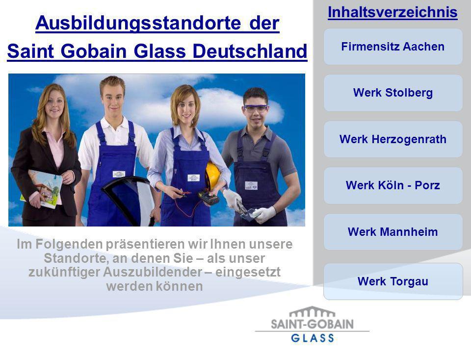 Ausbildungsstandorte der Saint Gobain Glass Deutschland