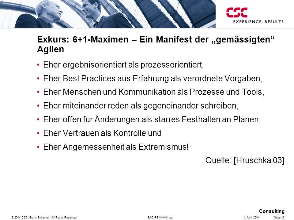 """Exkurs: 6+1-Maximen – Ein Manifest der """"gemässigten Agilen"""