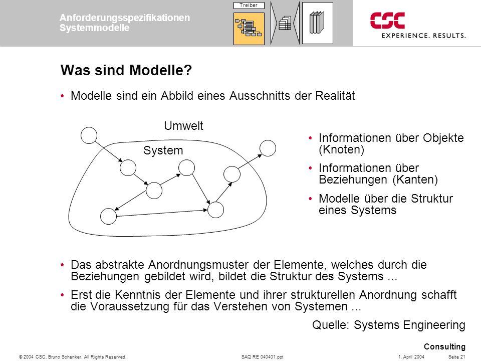 Anforderungsspezifikationen Systemmodelle
