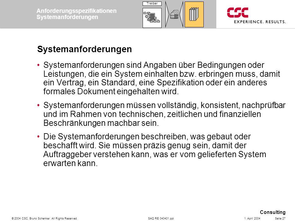 Anforderungsspezifikationen Systemanforderungen
