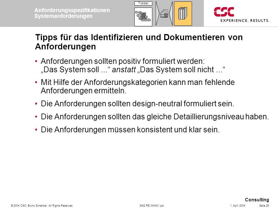 Tipps für das Identifizieren und Dokumentieren von Anforderungen