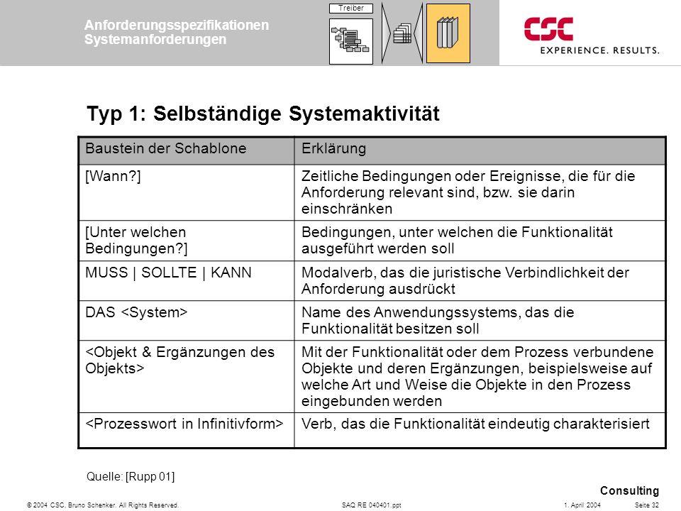 Typ 1: Selbständige Systemaktivität
