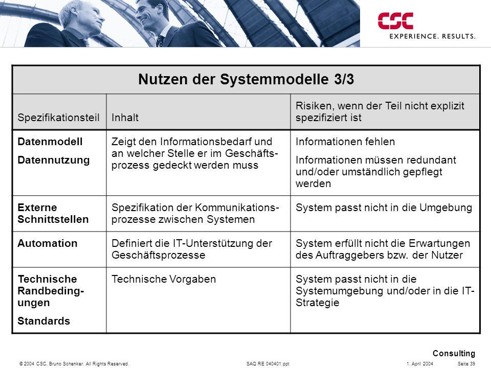 Nutzen der Systemmodelle 3/3